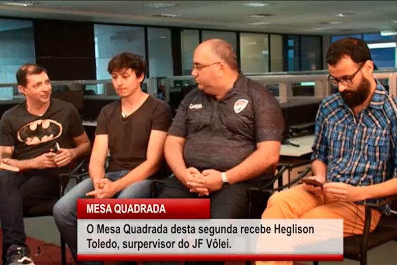 Imagem: Mesa Quadrada recebe Heglison Toledo