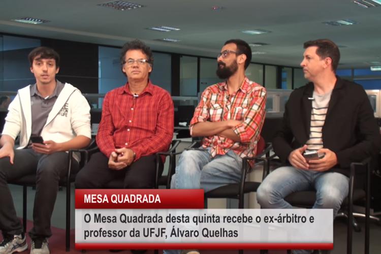 Imagem: Mesa Quadrada recebe o ex-árbitro e professor Álvaro Quelhas