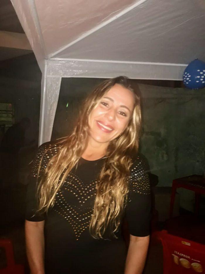 Mônica Mosqueira em recente noite de festa