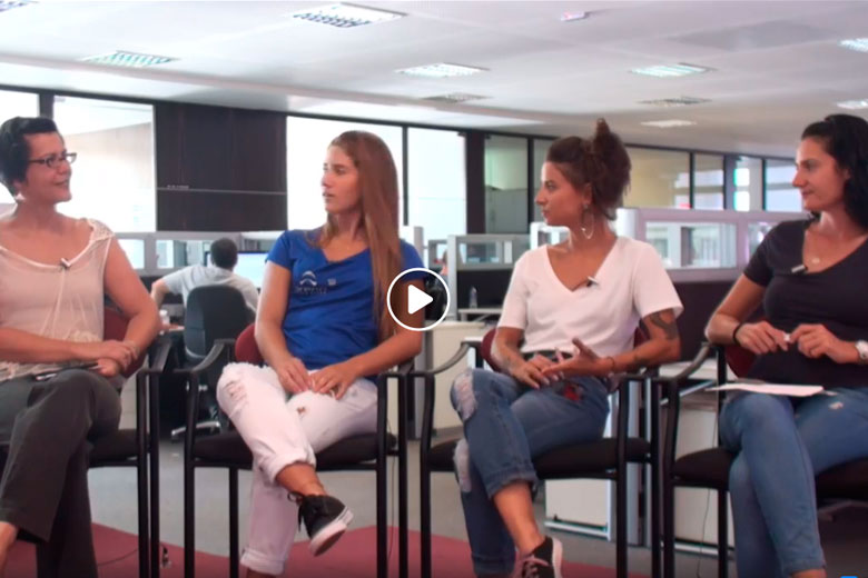 Imagem: Mesa Quadrada recebe tenista Giulia Aguiar e triatleta Juliana Scher