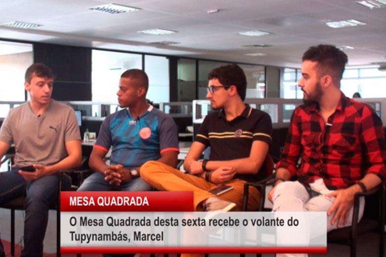 Imagem: Mesa quadrada recebe Marcel, volante do Tupynambás
