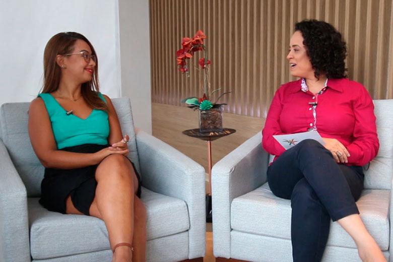 Imagem: Leila Abrahão estreia na TMTV falando sobre mercado de trabalho