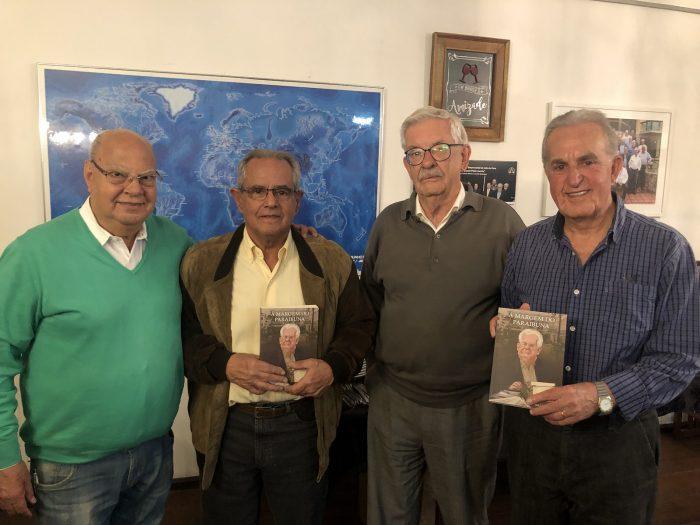 Paulo Ely Braz Pereira, o novo acadêmico Marcelo Infante, Wilson Cid e José Maurício Gomes no jantar da Academia Rio Branco