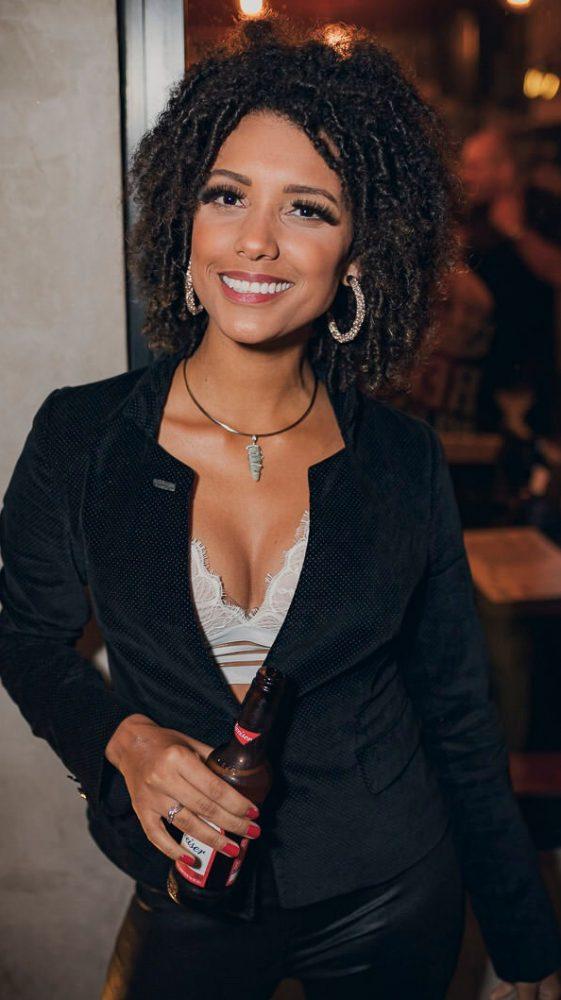 Carol Vieira na noite da Danke