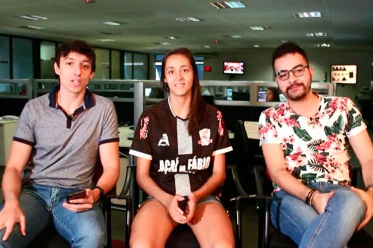 Imagem: Mesa Quadrada recebe a jogadora de futsal Marina Loures