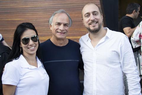 Gabriela Fernandes, Luiz Espada e Rodrigo Fonseca Foto: Guilherme Ovídio