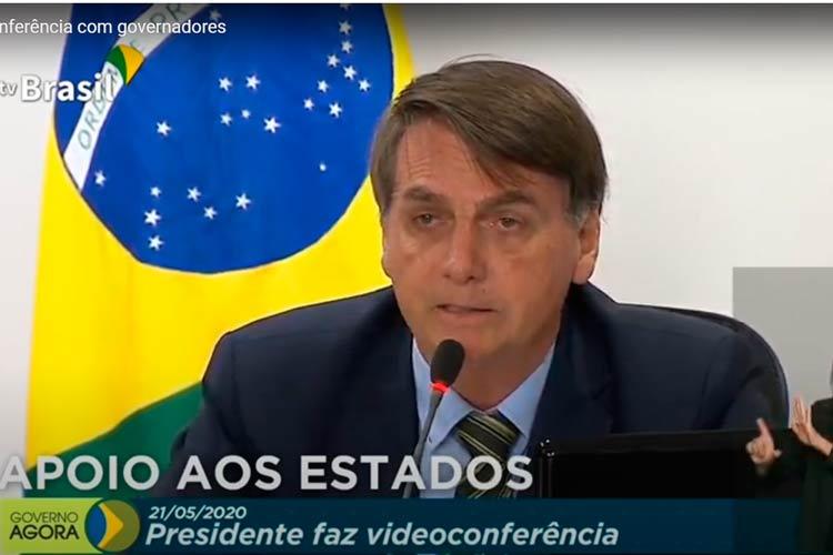 Imagem: Bolsonaro participa de conferência com governadores; assista