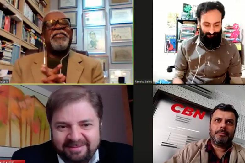 Imagem: Tribuna e CBN entrevistam Agostinho Patrus, presidente da ALMG