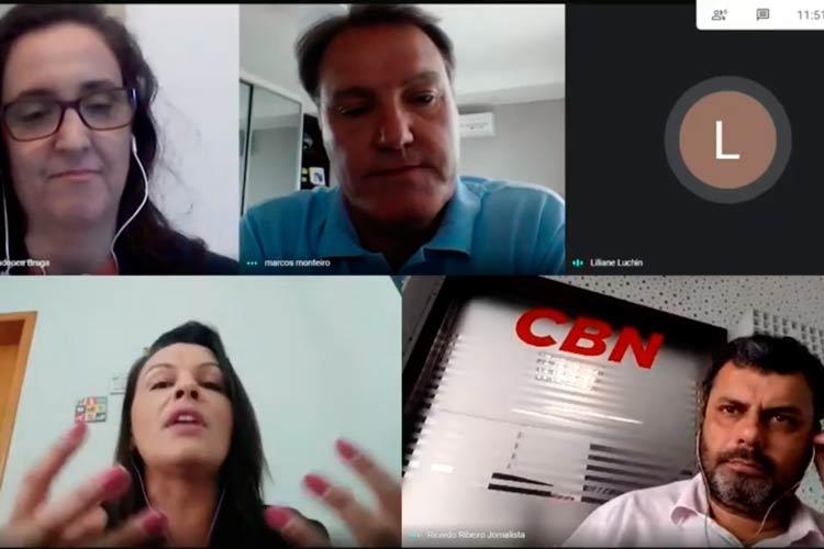 Imagem: Inova SA: Lili Luchin recebe Marcos Monteiro e Maria Lúcia Mendonça
