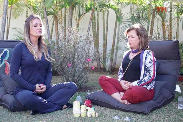 Imagem: Patricia Alvim apresenta os benefícios da yoga