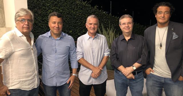 Afonso Hargreaves, Marcelo Detoni, Jovino Campos, senador Antonio Anastasia e Marcos Neves