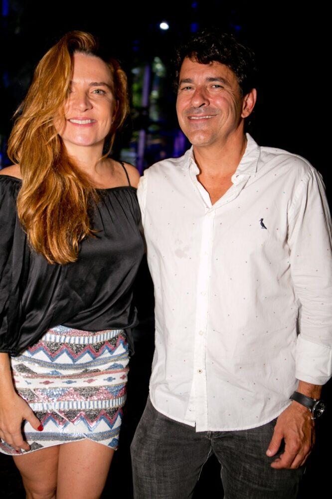 A aniversariante desta quinta-feira Letícia e Marcelo Machado Foto: Wanderson Monteiro
