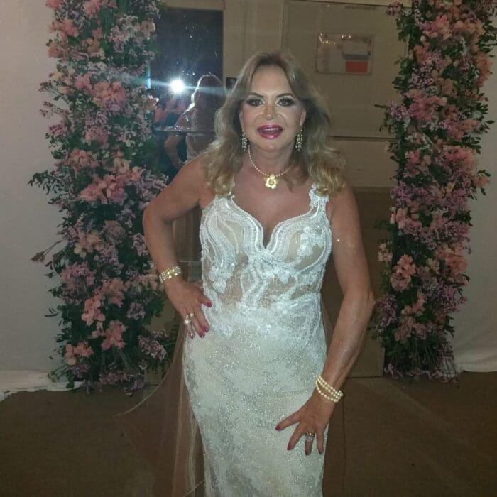 Baby Mancini, aniversariante de hoje, que foi definida por Léo Peixoto como a eterna Miss Brasil Gay