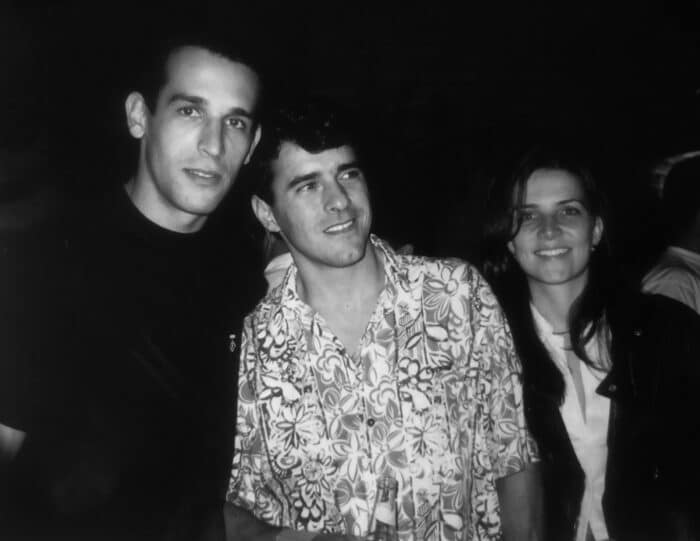 Fernando Nery, Marcelo Machado e Letícia Teixeira no Aero Pub