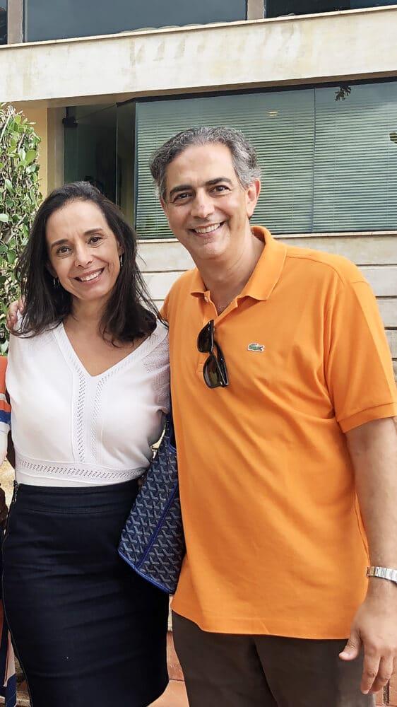 Adriana e Cláudio Domênico, antes da pandemia