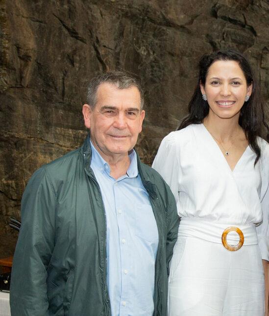 Honório Carvalho e Juliana Morais, os perfeitos anfitriões da feijoada de sábado no Assunta