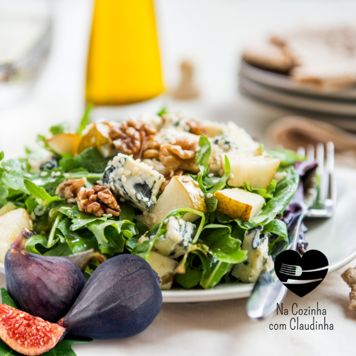 Salada mediterrânea de primavera